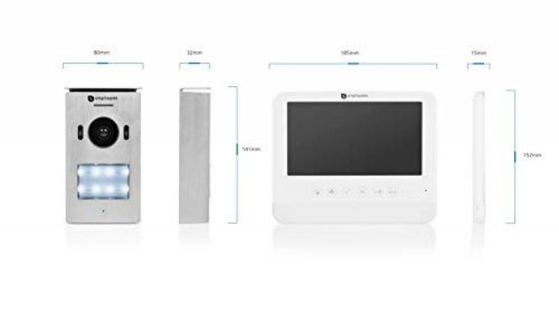 Kit compos/é de 2 interphones pour 2 logements de la ligne 2000 et d/'une platine de rue Pivot 363221