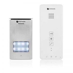Interphone Smartwares DIC-21112 – Audio 2 voies – Installation bifilaire facile – 52 mélodies – Bouton de sonnette lumineux – Unité extérieure étanche de la marque Smartwares image 0 produit