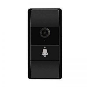 Interphone vidéo sans fil connecté à votre smartphone. Caméra HD, boitier noir, résistant à la pluie. Facile à installer. Parfait pour échanger avec vos visiteurs depuis votre smartphone. Knock' [Startup Française] de la marque Chamald & Co image 0 produit