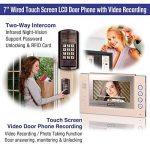 Interphone vidéo, Zoter Sonnette filaire Intercom moniteur à écran tactile clavier Mot de passe carte RFID 700TVL Système d'entrée de contrôle d'accès de la marque ZOTER image 1 produit