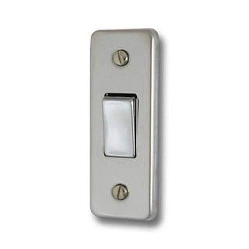 Varilight Simple Interrupteur de lumière 1 Gang 10 A 1 Ou 2 Voies Interrupteur à bascule-Matt Chrome