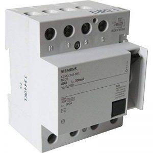 Interrupteur différentiel 4 pôles 30mA 40A Type AC de la marque Siemens image 0 produit
