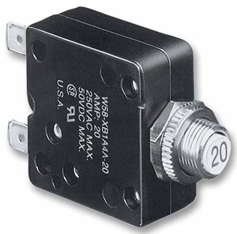 sourcing map Thermique Disjoncteurs 125//250V AC Pousser Bouton Manuel R/éinitialiser Surcharge Protecteur Interrupteur 10A
