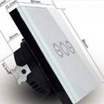 Interrupteur à minuterie standard de l'UE tactile avec télécommande White Wall Variateur Touch rf433mhz Smart Home de la marque Rongda Smart Home image 2 produit