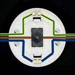 Interrupteur à pied Noir Ø 65x 30250V/2A pour câble rond Interrupteur à pédale pour sur pied et de table Leuchten Interrupteur intermédiaire de la marque Palme Kristall image 4 produit