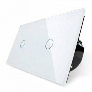 Interrupteur tactile double variateur VL-11/VL c701d c701d 11en verre blanc neuf de la marque Luxus-Time image 0 produit