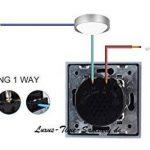 Interrupteur tactile double variateur VL-11/VL c701d c701d 11en verre blanc neuf de la marque Luxus-Time image 2 produit