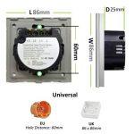 Interrupteur Tactile Mural 2 touches LED compatible Verre Blanc 86mm de la marque Bseed image 2 produit