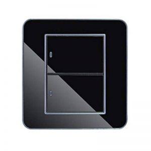 Isuper Variateur Interrupteur Intelligent Interrupteur Tactile Mural Etanche LED Interrupteur Prises de Courant en Verre Cristal Noir (2 Interrupteurs Contrôle Double) X 1 de la marque Isuper image 0 produit