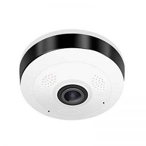 Jasnyfall Caméra IP Caméra de sécurité 960P 360 degrés 3D Caméra Panoramique camé-ra panoramique Fisheye Connexion P2P Wi-FI Facile à Installer——Blanc de la marque Jasnyfall image 0 produit