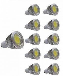 JCKing 5W GU10LED ampoules économiques LED COB projecteur LED Ampoules en aluminium super lumineuses AC 90–240V, Plastique, Cool White x 10, GU10 5.00 wattsW 220.00 voltsV de la marque JCKing image 0 produit