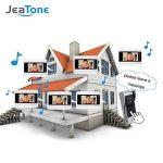 """Jeatone 720P AHD HD 7"""" écran Couleur système de déverrouillage d'interphone vidéo + 2 moniteurs d'enregistrement + 1 caméra de Sonnette en métal de la marque Jeatone image 3 produit"""