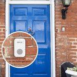 Jerrybox Sonnette de Porte Electronique sans Fil, 2 Récepteurs, Carillon Electrique de 300m à LED Bleu, Etanche (Double, Blanc) de la marque Jerrybox image 4 produit
