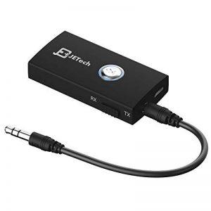 JETech 2030-BT-RV-TR-BK 2-en-1 Bluetooth Sans Fil Récepteur et Émetteur Audio Stéréo, avec Prise de 3,5 mm de la marque JETech image 0 produit
