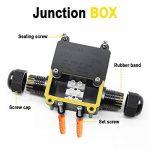 Jirvyuk Boîte de jonction, IP68extérieur étanche en plastique Noir Boîte de jonction électrique avec 2connecteur de câble pour câble de diamètre 4–12mm (lot de 2) de la marque jirvyuk image 2 produit