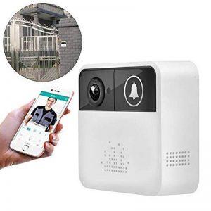 Jweal vidéo Sonnette, WiFi Smart Sonnette de porte sans fil de contrôle à distance–Sonnette sans fil avec Live View et Two Way Audio et carte SD Enregistrement Local (sans batterie et carte mémoire) de la marque Jweal image 0 produit