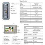 KAIDILA 7 Pouces TFT Filaire téléphone visuel de Porte bidirectionnelle Audio interphone avec Nuit IR déverrouiller Le Vision caméra extérieure étanche à la Pluie capotB Ell de la marque KAIDILA image 3 produit