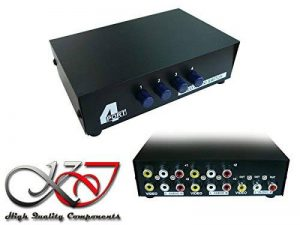 KALEA-INFORMATIQUE © - Switch AUDIO Stereo + VIDEO Composite - 4 Ports Aiguille une entrée vers 4 sorties ou 4 entrées vers une sortie de la marque KALEA INFORMATIQUE image 0 produit
