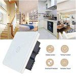Kidult Interrupteur tactile avec panneau en verre intelligent Wi-Fi compatible avec Amazon Alexa, Google, Home, iOS Android App, blanc de la marque Kidult image 1 produit
