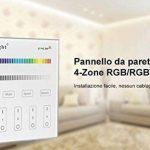 Kingled - 2.4Ghz Wifi Gradateur mural Contrôleur pour lampes à LED Mi-Light RGB et RGBW - Milight Smart Panel B3 4-Zone Cod 2205 de la marque Kingled image 1 produit