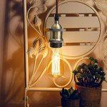 KINGSO E27 Lustre Suspension Vintage Retro Culot de Lampe Edison Antique 110-250V Adaptateur de Douille Cuivre avec Câble de 2m Antique Bronze de la marque KINGSO image 1 produit