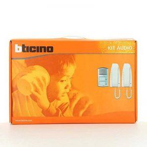 Kit composé de 2 interphones pour 2 logements de la ligne 2000 et d'une platine de rue Pivot 363221 de la marque Bticino image 0 produit