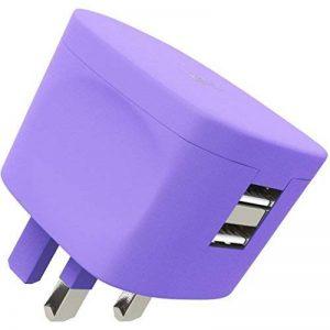 Kit Fresh Chargeur Secteur 3.4A pour Prises Britanniques avec Deux Ports USB Violet de la marque Kit image 0 produit