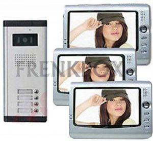 Kit trifamiliare pour 3appartements Appartements Interphone vidéo 4fils de la marque Frenkbox image 0 produit