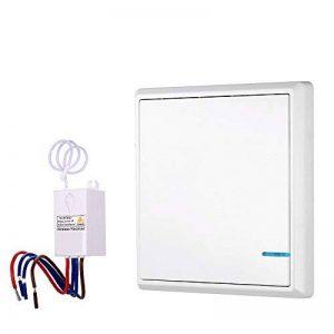 KKmoon AC 180~275V émetteur Sans Fil de Commutateur Récepteur Contrôleur Pas de Câblage Télécommande étanche Maison d' éclairage et Appareils de la marque KKmoon image 0 produit