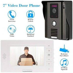 KKMOON Video Interphone Intercom Sonnette Visuelle de Porte avec 1pcs CCTV Camera Extérieure Sécurité + 1pcs 7inch HD Moniteur Intérieur Maison Surveillance TP01H-11 de la marque KKmoon image 0 produit