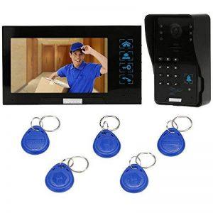 KKmoon Vidéo Phone Intercom Sonnette Visuel de porte avec 1pcs 1000TVL CCTV Caméra extérieure de sécurité + 1pcs 7inch Moniteur intérieur pour Maison Surveillance TP02S-11 de la marque KKmoon image 0 produit