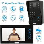 KKmoon Vidéo Phone Intercom Sonnette Visuel de porte avec 1pcs 1000TVL CCTV Caméra extérieure de sécurité + 1pcs 7inch Moniteur intérieur pour Maison Surveillance TP02S-11 de la marque KKmoon image 1 produit