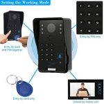KKmoon Vidéo Phone Intercom Sonnette Visuel de porte avec 1pcs 1000TVL CCTV Caméra extérieure de sécurité + 1pcs 7inch Moniteur intérieur pour Maison Surveillance TP02S-11 de la marque KKmoon image 2 produit