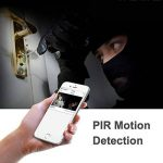 Kobwa WiFi Smart Sonnette, Carillon vidéo sans Fil HD 720p WiFi Camera vidéo en Temps réel Audio Bidirectionnel Vision Nocturne Détection de Mouvement Voleur Rappel iOS, Android, Windows (Argent) de la marque KOBWA image 3 produit