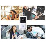 KOBWA WiFi Smart Sonnette, Carillon vidéo sans Fil HD 720P WiFi Camera vidéo en Temps réel Audio Bidirectionnel Vision Nocturne Détection de Mouvement Voleur Rappel iOS, Android, Windows de la marque KOBWA image 3 produit