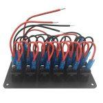 Kongqiabona Combinaison de commutateur à 6 Panneaux avec Prise de Courant électrique Recharge de Voiture Rechargeable à LED Interrupteur à Del pour Voiture de Tourisme de la marque Kongqiabona image 4 produit
