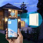 Koogeek Wi-Fi Interrupteur intelligent Lumière réglable pour Apple HomeKit et Siri Remote Control support 2.4 GHz réseau pole beige Nécessite un fil de neutre de la marque Koogeek image 4 produit