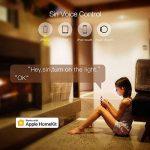 Koogeek Wi-Fi Interrupteur intelligent Lumière réglable pour Apple HomeKit et Siri Remote Control support 2.4 GHz réseau pole beige Nécessite un fil de neutre de la marque Koogeek image 2 produit