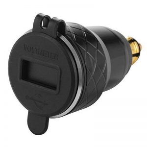 Kreema QC 3.0 Chargeur Double USB 4.2A Adaptateur + Voltmètre LED Voltage Display pour Moto BMW Hella Plug Socket Noir de la marque Kreema image 0 produit