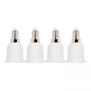 kwmobile 4x adaptateur de douille - Convertisseur de douilles E14 vers E27 - Adaptateur de support de lampe culot E27 pour ampoule LED halogène de la marque kwmobile image 0 produit