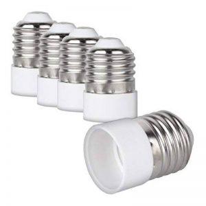 kwmobile 4x adaptateur de douille - Convertisseur de douilles E27 vers E14 - Adaptateur de support de lampe culot E14 pour ampoule LED halogène de la marque kwmobile image 0 produit
