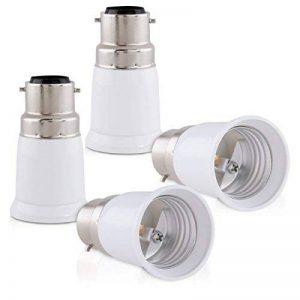 kwmobile 4x adaptateur de douille - Convertisseur douilles B22 vers E27 - Adaptateur de support de lampe culot baïonnette pour ampoule LED halogène de la marque kwmobile image 0 produit
