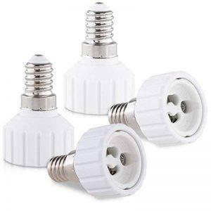 kwmobile 4x adaptateur de douille - Convertisseur douilles E14 vers GU10 - Adaptateur de support de lampe culot baïonnette pour ampoule LED halogène de la marque kwmobile image 0 produit