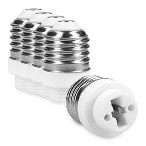 kwmobile 5x Adaptateur base de lampe converter E27 douille à G9 base de la lampe pour lampes à LED, halogène, à économie d'énergie de la marque kwmobile image 0 produit