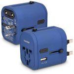 kwmobile Adaptateur Universel 150 Pays - Prise Universelle Voyage 4 Ports USB - Port 3A Type C - Prises électriques Prises de Courant - Bleu de la marque kwmobile image 4 produit