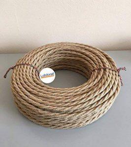 LaMorell LightDesign – Câble électrique tressé avec revêtement en tissu Couleur jute. Section2x0,75. de la marque LaMorell LightDesign image 0 produit