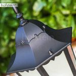 Lampadaire extérieur HONGKONG FROST en fonte d'aluminium de couleur noir et verre opale - Petit réverbère IP44 - Lampe de sentier - jardin - cour - terrasse de la marque HOFSTEIN image 3 produit