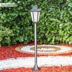 Lampadaire extérieur HONGKONG FROST en fonte d'aluminium de couleur noir et verre opale - Petit réverbère IP44 - Lampe de sentier - jardin - cour - terrasse de la marque HOFSTEIN image 4 produit