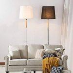 Lampadaires Nordic Iron - moderne minimaliste LED solide bois noir/blanc plateau de rangement en tissu Vertical lampadaire American Village salon étude chambre lampadaire, interrupteur à tirette de la marque ZZW image 2 produit