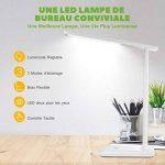 Lampe de Bureau LED, TOPELEK 42 LED Lampe de Chevet Tactile Flexible Adaptateur Chargeur USB 3 Modes de Couleur & 3 Niveaux de Luminosité Soin des Yeux Lampe de Table Travail, Lecture, Etudes - Blanc de la marque TOPELEK image 1 produit